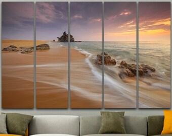 Sand Ocean Reefs Landscape Art Print Sand print Sand canvas Landscape print Sand art Wall art Print on canvas Room art House decor Poster