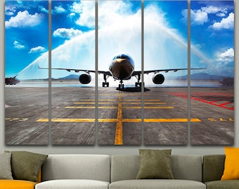 SIOUX FALLS South Dakota TWA Airlines 707 Boeing 777 Poster Pin Up Art Print 251