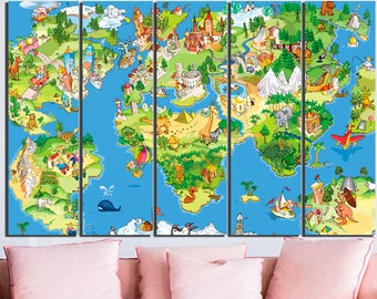 Literature Map Of The World.Literature Map World Literature Map Canvas Art Literature Map Etsy