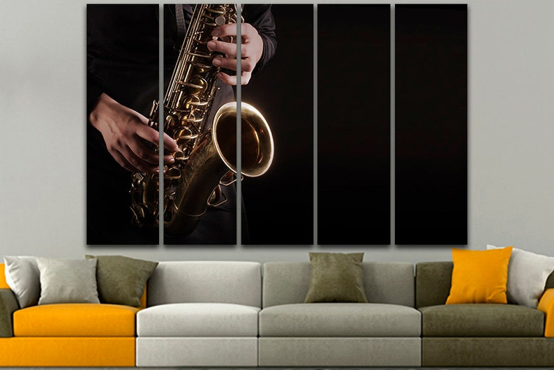 Jazz Poster Print Canvas Wall Art Home Decor