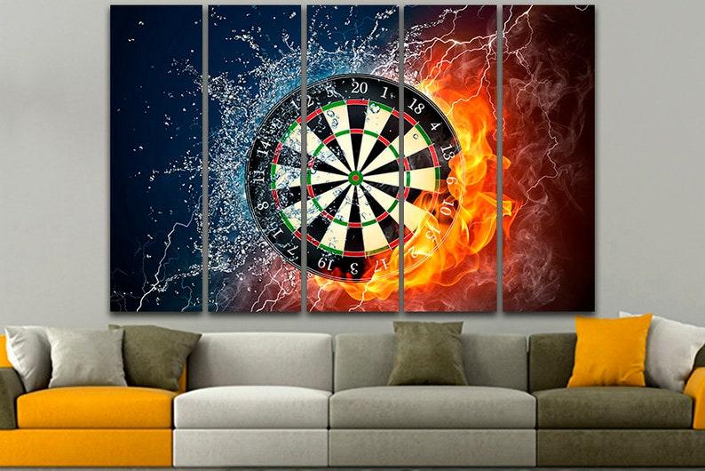 Darts Wall Art Darts Print Darts Canvas Game Home Decor Game Etsy