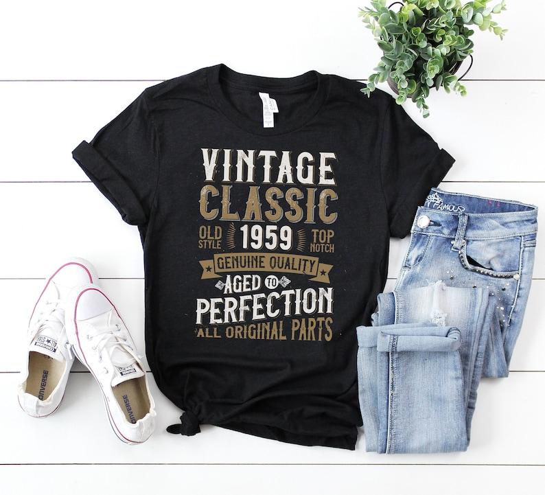 60th Anniversary Birthday Party T Shirt 1959 Vintage