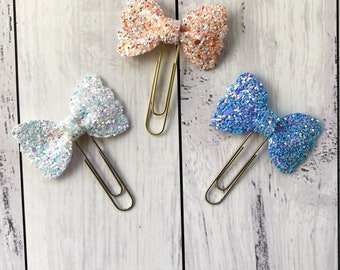 Sweet Scallop Planner Bow- Planner Clip- Planner Charm- Bow Clip