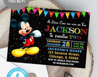 Invitations à la main Minnie Mouse pour les anniversaires   Etsy