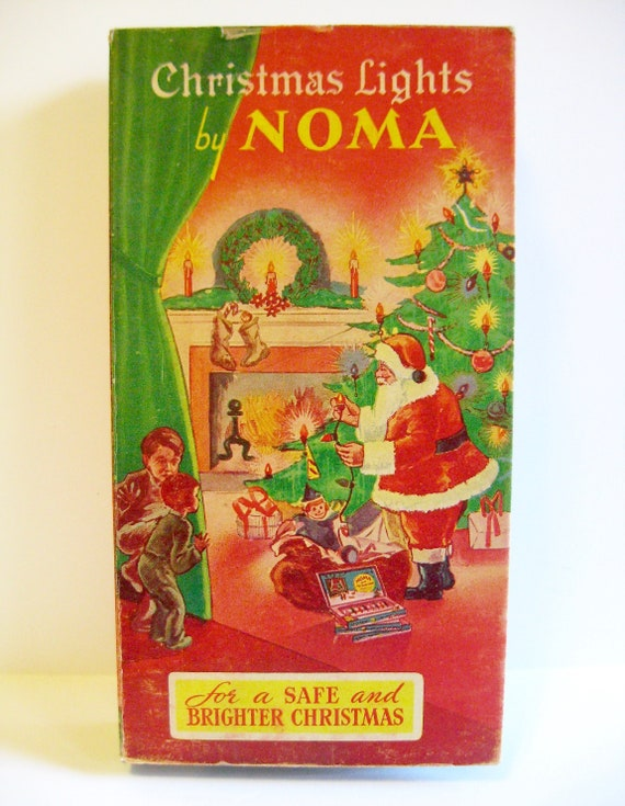 image 0 - Vintage 1930s Noma Christmas Tree Lights And Box Colored Lamps Etsy