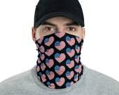 Neck Gaiter USA Flag Heart Design