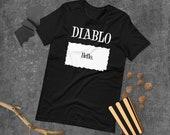 Diablo Taco Sauce Packet 'Hello.' Halloween Costume
