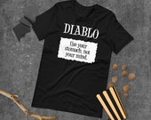 Diablo Taco Sauce Packet 'Use your stomach, not your mind.' Halloween Costume