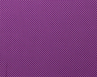 100% cotton weaving, 0.5 meters, fabrics, purple with white dots, patchwork, meterware, ÖkoTex