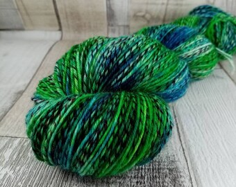Hand dyed sock yarn in 100g strand color 107