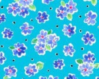 100% Cotton Weaving, 0.5 meters, Fabrics, Flowers, Deliah, Patchwork, Meterware, ÖkoTex