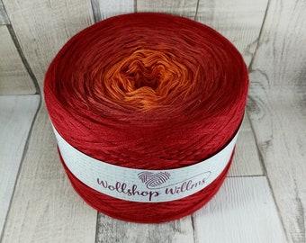 Bobbel, gradient yarn 4 threads for crochet and knitting