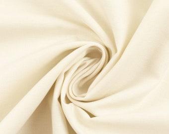 100% Cotton Weaving, 0.5 meters, Fabrics, Uni, Nature, Meterware, EcoTex