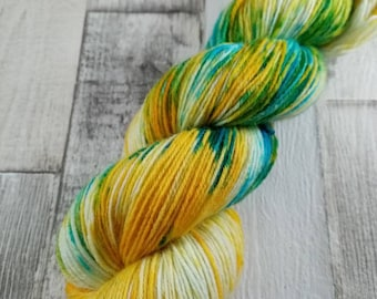 Hand dyed sock yarn for crochet and knitting color 039