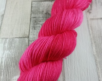 Hand dyed sock yarn in 100g strand color 048