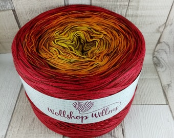 Bobbel, gradient yarn 4 threads for crochet and knitting