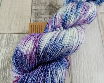 Hand dyed sock yarn with cotton color 038