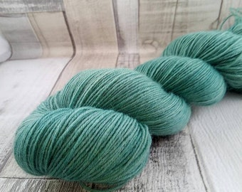 Hand dyed sock yarn in 100g strand for crochet and knitting color 021 green