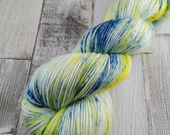 Hand dyed sock wool in 100g strand with merino wool and bamboo color 066