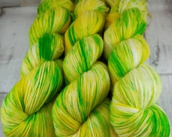 Hand dyed sock yarn in 100g strand colour 065