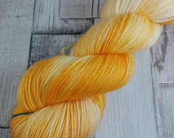 Hand dyed sock yarn in 100g strand merino bamboo for crochet and knitting color 061
