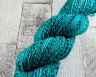 Hand dyed sock yarn in 100g strand for crochet and knitting color 032 Turquoise