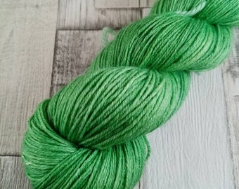 Hand dyed sock yarn with merino bamboo color 024