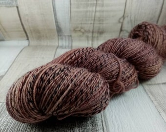 Hand dyed sock yarn in 100g strand for crochet and knitting color 013 brown