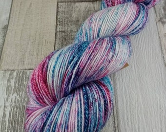 Hand dyed sock yarn with cotton color 104