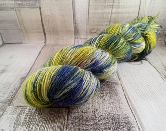 Hand dyed sock yarn for crochet and knitting color 025