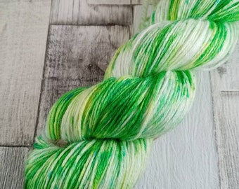 Hand dyed sock yarn in 100g strand merino bamboo for crochet and knitting color 058