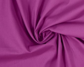 100% Cotton Weaving, 0.5 meters, Fabrics, Uni, Purple, Meterware, EcoTex
