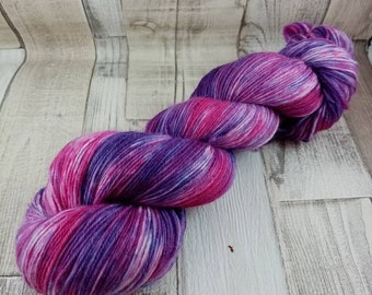 Hand dyed sock yarn in 100g strand for crochet and knitting color 063