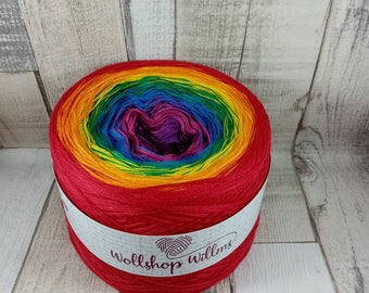 Bobbel, gradient yarn for crochet and knit 4 ply rainbow