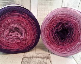 Bobbel, Farbverlaufsgarn zum häkeln oder stricken 3 fädig