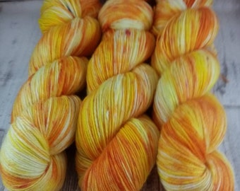 Hand dyed sock yarn in 100g strand colour 063
