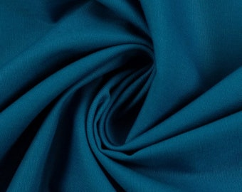 100% Cotton Weaving, 0.5 meters, Fabrics, Uni, Turquoise, Meterware, EcoTex