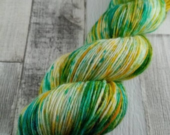 Hand dyed sock yarn for crochet and knitting color 057