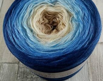 Bobbel gradient yarn 4 ply for crochet and knitting