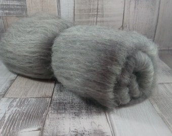 50g Batt/Comb 100% sheep wool from mountain sheep to spinning and felting grey