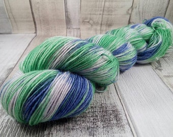 Hand dyed sock yarn in 100g strand for crochet and knitting color 037