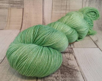 Hand dyed sock yarn with merino and bamboo color 020