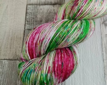 Hand dyed sock yarn in 100g strand merino bamboo for crochet and knitting color 051
