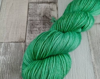 Hand dyed wool with merino and bamboo DK color 504 green