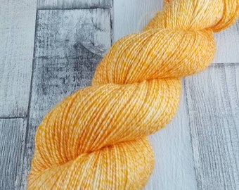 Hand dyed sock yarn with cotton color 096