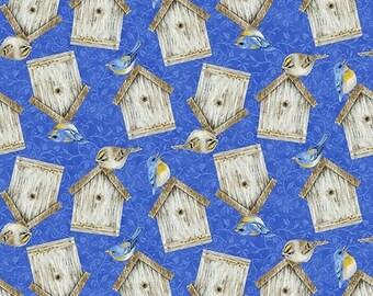 100% Cotton Weaving, 0.5 meters, Fabrics, Bird, Patchwork, Meterware, EcoTex