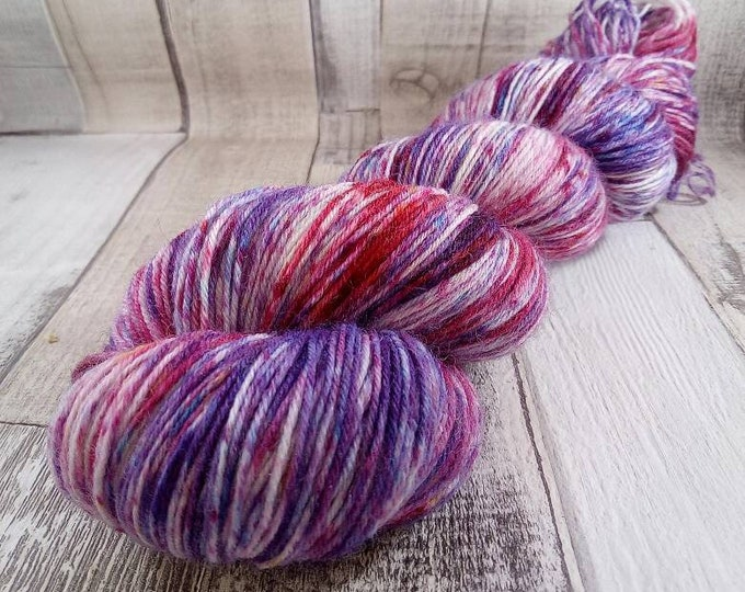 Featured listing image: Hand dyed sock yarn for crochet and knitting color 033