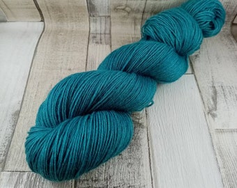 Hand dyed sock yarn in 100g strand for crochet and knitting color 012 blue