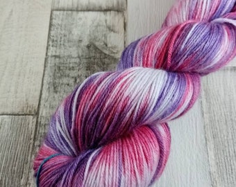 Hand dyed sock yarn in 100g strand merino bamboo for crochet and knitting color 077