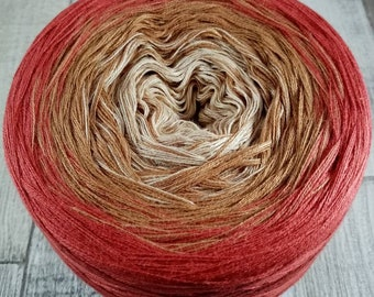 Bobbel gradient yarn 4 ply for crochet and knitting color